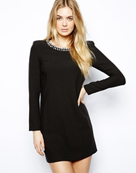 Arrogant Cat London Mini Shift Dress With Embellished Collar