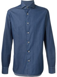 Barba Denim Shirt Blue