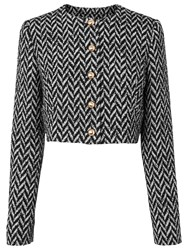 Lk Bennett L.K. Karla Herringbone Jacket Black Cream