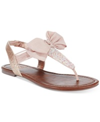 Material Girl Swan Flat Thong Sandals Women's Shoes Blush