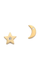 Tai Star And Moon Earrings Gold