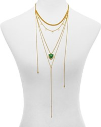 Jules Smith Designs Jules Smith Curb And Chain Trillion Disc Necklace 16 Gold