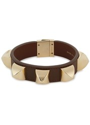 Givenchy Brown Mini Studded Leather Cuff