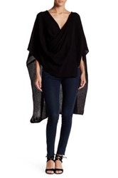 14Th And Union Ruana Textured Shawl Black