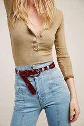 Rayata For Free People Womens Embossed Snake Belt