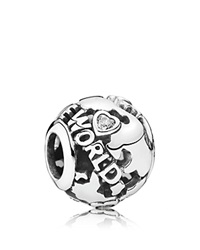 Pandora Design Pandora Charm Sterling Silver Cubic Zirconia And Enamel Around The World Moments Collection