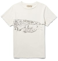 Remi Relief Printed Ditreed Cotton Jerey T Hirt Off White
