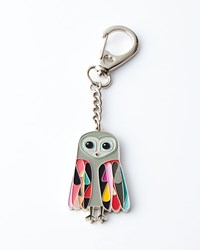 Owl Key Ring With Chain Neiman Marcus Grey
