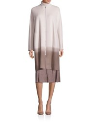Lafayette 148 New York Barbara Cashmere Ombre Coat Ecru Multi