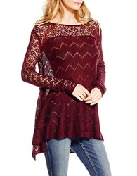 Jessica Simpson Open Knit Sweater Red