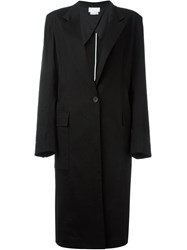 Dkny Long Overcoat Black