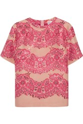 Red Valentino Cropped Brocade Top Pink
