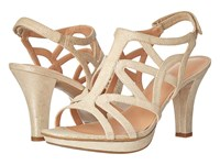 Naturalizer Danya Taupe Gold Metallic Women's Sandals