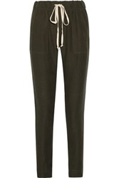 Enza Costa Canvas Tapered Pants Army Green