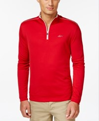 Greg Norman For Tasso Elba 1 4 Zip Pullover Banner Red