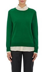 Dries Van Noten Women's Macha Wool Bateau Neck Sweater Green