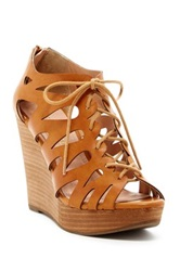 Restricted Max Out Lace Up Wedge Brown