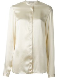Haider Ackermann Mandarin Collar Shirt Nude And Neutrals