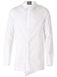 Lost And Found Drop Hem Shirt White