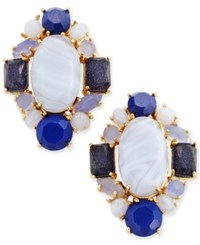 Kate Spade New York Gold Tone Blue Stone Cluster Stud Earrings Blue Multi