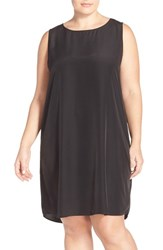 Plus Size Women's Halogen Sleeveless Shift Dress Black