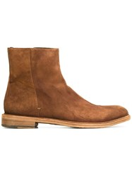 Paul Smith Zipped Ankle Boots Brown
