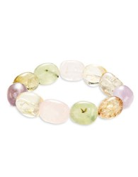 Kenneth Jay Lane Couture Semi Precious Beaded Stretch Bracelet Multi Colored