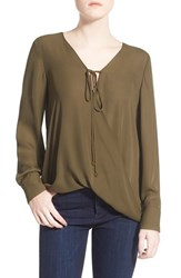 Women's Wayf Wrap Front Long Sleeve Blouse