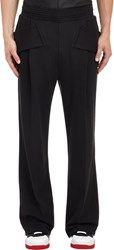 Givenchy Men's Pleated Pocket Strap Sweatpants Black