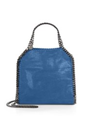 Stella Mccartney Falabella Mini Baby Bella Metallic Faux Suede Tote Golden Syrup Blue Bird Purple Pink Cherry