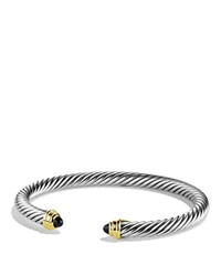 David Yurman Cable Classics Bracelet With Black Onyx And Gold