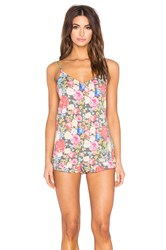 Wildfox Couture Ruffle Romper Pink