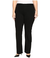 Nydj Plus Size Isabella Trousers In Ponte Knit In Black Black Women's Casual Pants