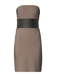 Robert Rodriguez Bonded Mesh Strapless Dress