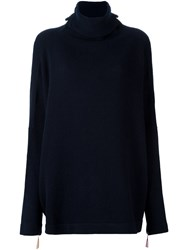 Daniela Gregis Loose Roll Neck Jumper Blue