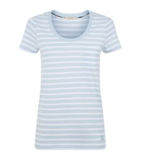 Burberry Striped Pocket T Shirt Female Light Blue
