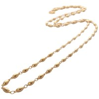 Mirabelle Long Pepin Chain Necklace Gold