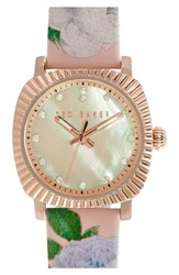 Women's Ted Baker London 'Mini Jewels' Patent Leather Strap Watch 26Mm X 31Mm