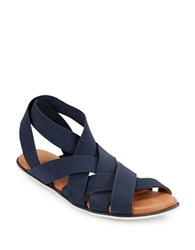 Gentle Souls Bari Elastic Strap Sandals Navy Blue