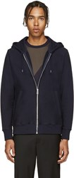 Paul Smith Navy French Terry Zip Hoodie