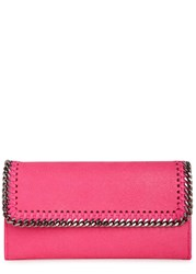 Stella Mccartney Falabella Hot Pink Faux Suede Wallet Bright Pink