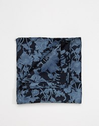 Noose And Monkey Pocket Square Navy