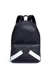 Neil Barrett 'Retro Modernist' Leather Backpack Black