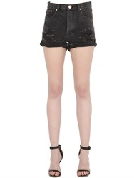 One Teaspoon Outlaws Cotton Denim Shorts
