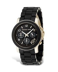 Michael Kors Black Rubber Strap Chronograph Watch 39 Mm