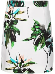 Proenza Schouler Floral Mini Skirt White