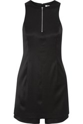 Alexander Wang T By Stretch Silk Twill Playsuit Black