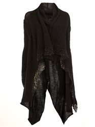 Masnada Draped Cardi Coat Black
