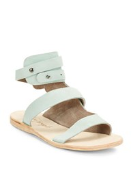 Free People Little Fox Nubuck Leather Sandals Lagoon