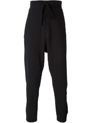 Thom Krom Drop Crotch Track Pants Black